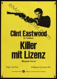 1k019 MAGNUM FORCE Swiss '73 Clint Eastwood as Dirty Harry pointing his huge gun!