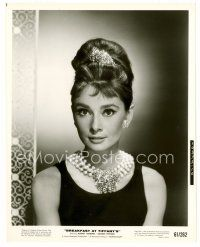 1m002 AUDREY HEPBURN 8x10 still '61 most classic head & shoulders c/u from Breakfast at Tiffany's!