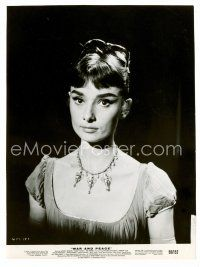 1m006 AUDREY HEPBURN 7.25x10 still '56 head & shoulders close up from War & Peace!