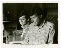 1m018 WAIT UNTIL DARK 8x10 still '67 close up of blind Audrey Hepburn & Efrem Zimbalist Jr!