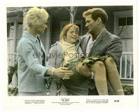 1m035 BIRDS color 8x10 still '63 Rod Taylor carries Veronica Cartwright as Tippi Hedren watches!