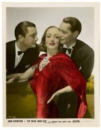 1m039 BRIDE WORE RED color 8x10 still '37 Joan Crawford, Franchot Tone & Robert Young!