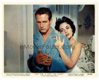 1m043 CAT ON A HOT TIN ROOF color Eng/US 8x10 still '58 sexy Elizabeth Taylor w/Paul Newman!