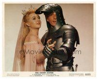 1m052 COURT JESTER color 8x10 still '55 c/u of Danny Kaye in armor with Princess Angela Lansbury!