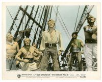 1m053 CRIMSON PIRATE color 8x10 still '52 image of swashbuckler Burt Lancaster & Nick Cravat on ship