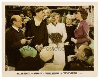 1m057 DOUBLE WEDDING color 8x10 still '37 Jessie Ralph, Florence Rice, William Powell & Myrna Loy !