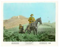 1m063 FAR COUNTRY color 8x10 still '55 James Stewart on horseback , directed by Anthony Mann!