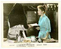 1m064 FLY color 8x10 still '58 classic sci-fi, Patricia Owens gets some bad news!