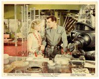 1m065 FORBIDDEN PLANET color Eng/US 8x10 still '56 Robby the Robot, Jack Kelly & sexy Anne Francis!