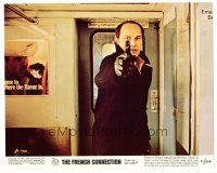 1m066 FRENCH CONNECTION color 8x10 still '71 directed by William Friedkin, Marcel Bozzuffi w/gun!