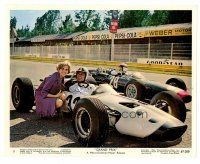 1m074 GRAND PRIX color Eng/US 8x10 still '67 Formula One race driver James Garner in car!