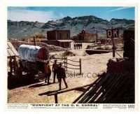 1m076 GUNFIGHT AT THE O.K. CORRAL color 8x10 still '57 John Sturges directed, great showdown scene!