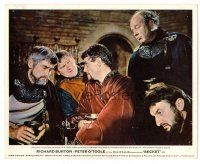 1m027 BECKET color English FOH LC '64 close up of Peter O'Toole drinking with four barons!