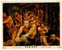 1m030 BEN-HUR color English FOH LC '60 cool image of Charlton Heston as galley slave!