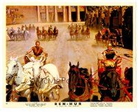 1m029 BEN-HUR color English FOH LC '60 Charlton Heston, cool image of chariot race!