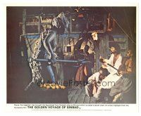 1m072 GOLDEN VOYAGE OF SINBAD color English FOH LC '73 John Phillip Law fights ship figurehead!