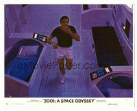 1m022 2001: A SPACE ODYSSEY 8x10 mini LC #7 '68 Stanley Kubrick, Gary Lockwood in space station!
