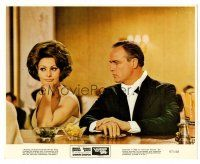 1m051 COUNTESS FROM HONG KONG 8x10 mini LC '67 Marlon Brando & sexy Sophia Loren in restaurant!