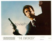 1m048 CLINT EASTWOOD 8x10 mini LC #1 '77 close up pointing his big gun from The Enforcer!