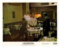1m070 GODFATHER 8x10 mini LC '72 great image of Al Pacino shooting Sterling Hayden & Al Lettieri!