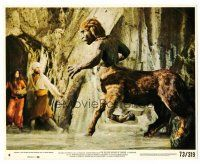 1m071 GOLDEN VOYAGE OF SINBAD 8x10 mini LC #8 '73 John Phillip Law & Caroline Munro attacked!