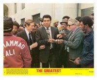 1m075 GREATEST 8x10 mini LC #3 '77 heavyweight boxing champ Muhammad Ali mobbed by the press!