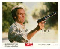 1m049 CLINT EASTWOOD 8x10 mini LC #8 '83 close up pointing his big gun from Sudden Impact!