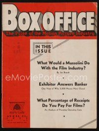1p086 BOX OFFICE exhibitor magazine April 13, 1933 Paramount Pictures makes hubby happy!