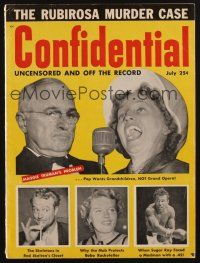 1p094 CONFIDENTIAL magazine July 1954 uncensored & off the record stories not in mainstream media!