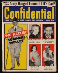1p098 CONFIDENTIAL magazine May 1956 Frank Sinatra is the Tarzan of the boudoir!