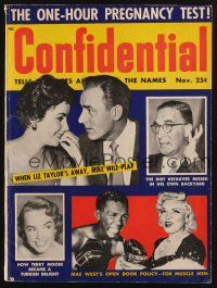 1p096 CONFIDENTIAL magazine November 1955 Mae West has a thing for black boxers!
