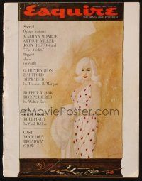 1p099 ESQUIRE magazine March 1961 art of Marilyn Monroe by Allan & 8-page story on The Misfits!!