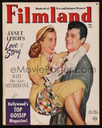 1p101 FILMLAND magazine December 1951 great image of Tony Curtis carrying Janet Leigh!