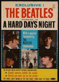 1p104 HARD DAY'S NIGHT magazine '64 great portraits of The Beatles, rock & roll classic!