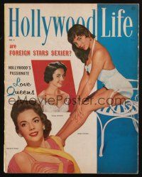 1p105 HOLLYWOOD LIFE magazine October 1956 sexy Joan Collins, Dana Wynter & Natalie Wood!
