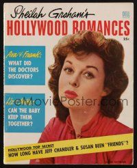 1p108 HOLLYWOOD ROMANCES magazine '54 how long has Susan Hayward been 'friends' with Jeff Chandler!