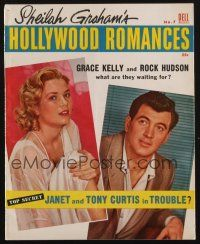 1p109 HOLLYWOOD ROMANCES magazine '55 what are Grace Kelly & Rock Hudson waiting for!