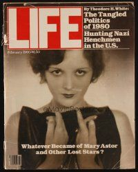 1p114 LIFE MAGAZINE magazine February 1980 whatever became of Mary Astor & other lost stars!