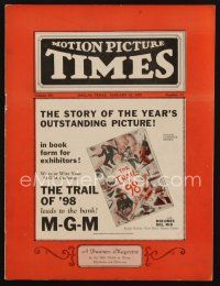 1p083 MOTION PICTURE TIMES exhibitor magazine January 12, 1929 The Trail of 98 is the year's best!