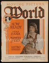1p079 MOVING PICTURE WORLD exhibitor magazine April 16, 1921 D.W. Griffith, Ruth Roland serial!