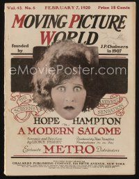 1p077 MOVING PICTURE WORLD exhibitor magazine February 7, 1920 Arbuckle, Chaplin, Jack Dempsey!