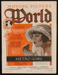 1p081 MOVING PICTURE WORLD exhibitor magazine June 11, 1921 Gloria Swanson, art of Butterfly Girl!