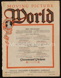 1p080 MOVING PICTURE WORLD exhibitor magazine May 7, 1921 really great artwork ads!