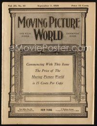 1p072 MOVING PICTURE WORLD exhibitor magazine September 2, 1916 Charlie Chaplin, Civilization+more!