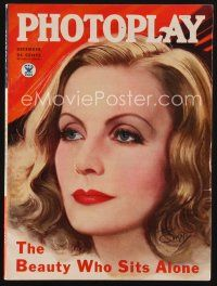1p091 PHOTOPLAY magazine December 1934 wonderful art of Greta Garbo by Earl Christy!