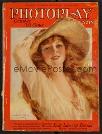 1p088 PHOTOPLAY magazine October 1918 art of pretty Marguerite Clayton by W. Haskell Coffin!