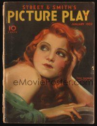 1p119 PICTURE PLAY magazine January 1932 artwork of pretty Peggy Shannon by Modest Stein!