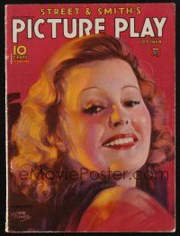 1p120 PICTURE PLAY magazine October 1934 art of pretty Lillian Harvey by Albert Fisher!