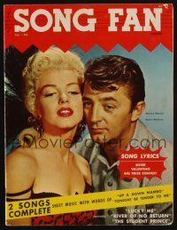 1p128 SONG FAN magazine July 1954 Marilyn Monroe & Robert Mitchum in River of No Return!