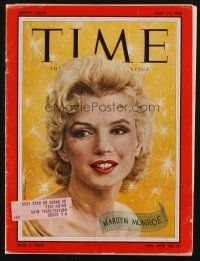 1p129 TIME magazine May 14, 1956 wonderful portrait of Marilyn Monroe by Boris Chaliapin!